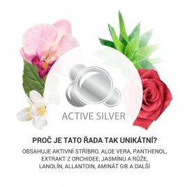 Kosmetika s přírodními extrakty a aktivním stříbrem pro ženu - vůně jasmínu, růže a orchidee