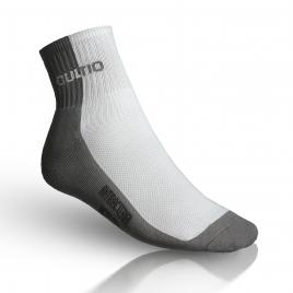 Ponožky se stříbrem polovysoké, šedo-bílé