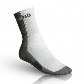 Ponožky s aktivním stříbrem vysoké, šedo-bílé