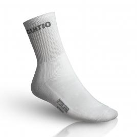 Ponožky s aktivním stříbrem polofroté, vysoké, bílá
