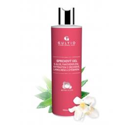 Sprchový gel s aloe, panthenolem,  extraktem z orchidee,  lanolínem a stříbrem