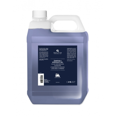 Šampon a sprchový gel s aktivním stříbrem, aloe vera a extraktem z šampaňských hroznů náhradní náplň
