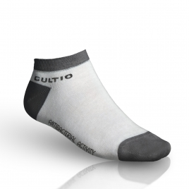 Ponožky se stříbrem snížené, šedo-bílé