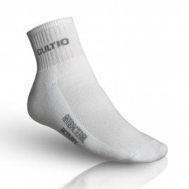 Ponožky se stříbrem polovysoké, bílé