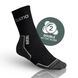 Termo ponožky s aktivním stříbrem černé