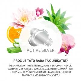 Kosmetika s přírodními extrakty a aktivním stříbrem pro ženu - vůně magnólie, lotus, ovoce