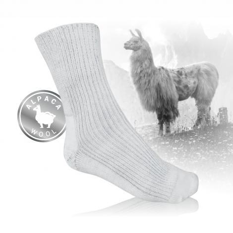 Ponožky s vlnou z lamy alpaky a stříbrem