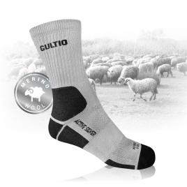 Trekové ponožky z MERINO vlny a stříbra